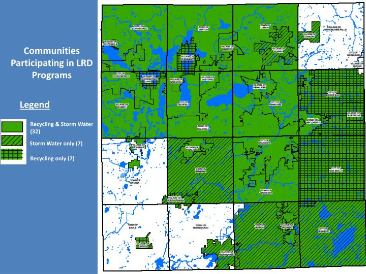 Communities Participating in LRD Programs