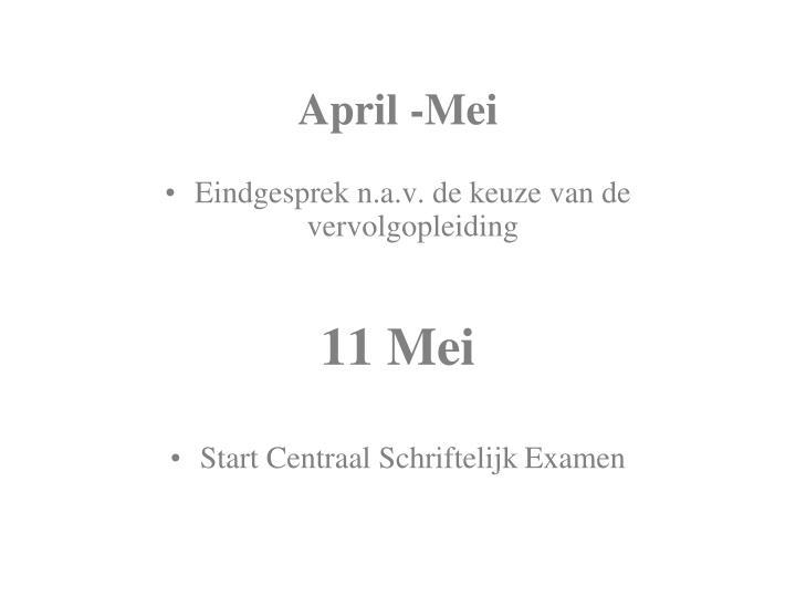 April -Mei