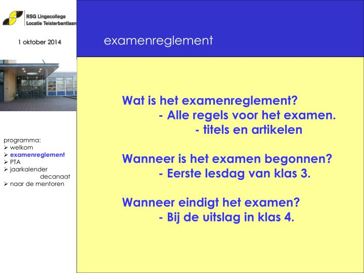 examenreglement