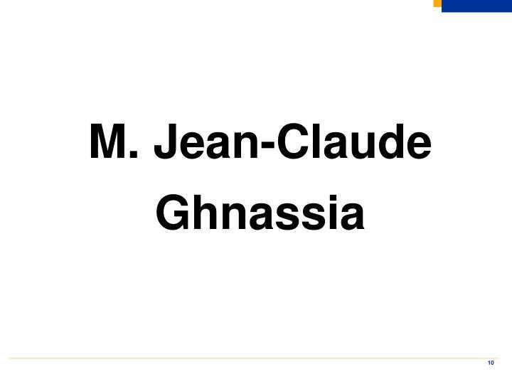 M. Jean-Claude Ghnassia