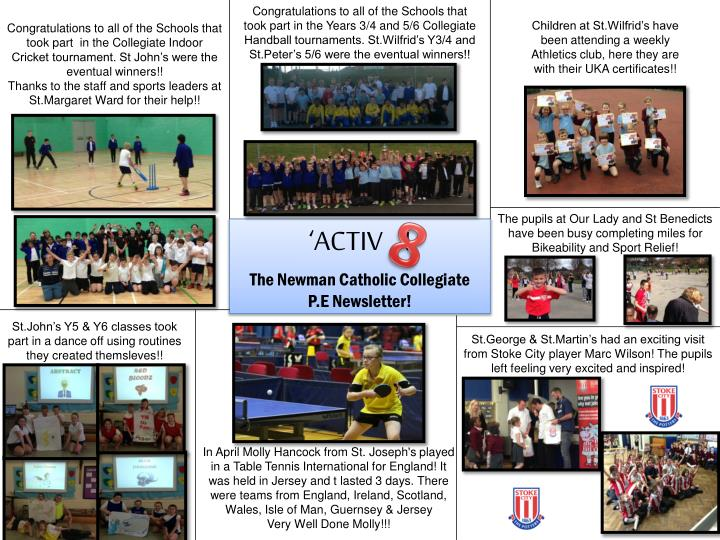 Congratulations to all of the Schools that took part in the Years 3/4 and 5/6 Collegiate Handball to...