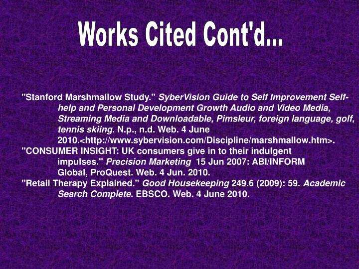 Works Cited Cont'd...