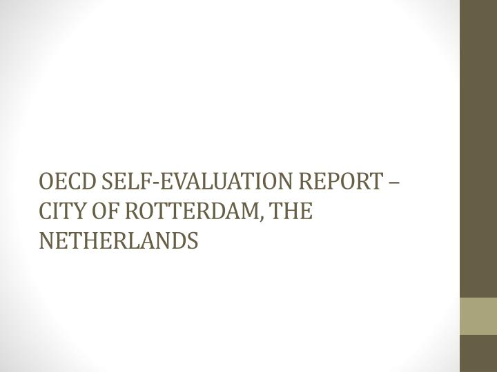 Oecd self evaluation report city of rotterdam the netherlands