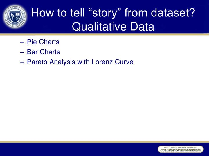 How to tell story from dataset qualitative data