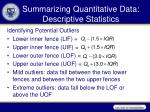summarizing quantitative data descriptive statistics3