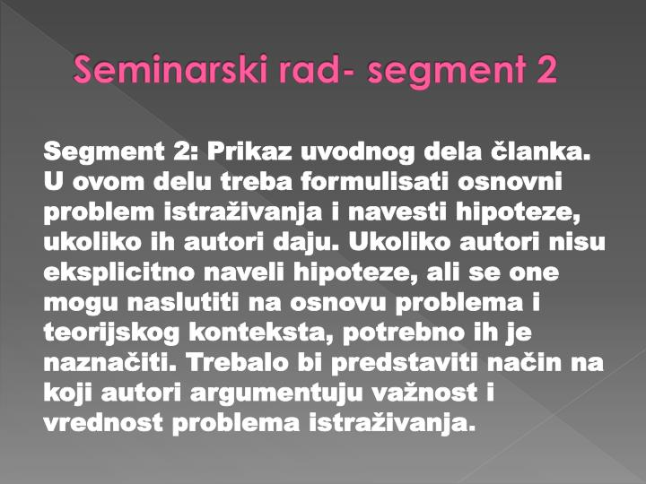 Seminarski rad- segment 2