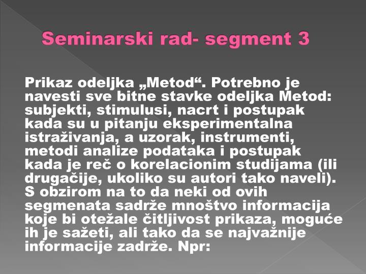 Seminarski rad- segment 3