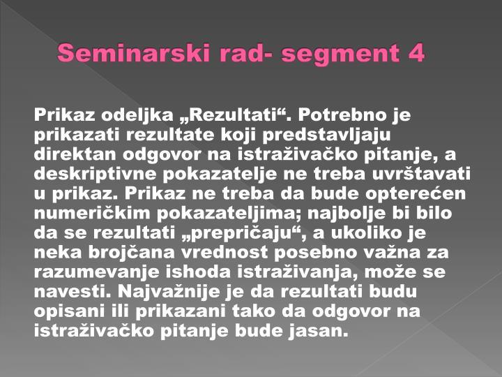 Seminarski rad- segment 4