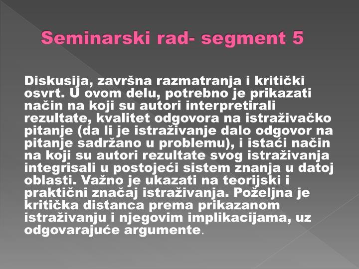 Seminarski rad- segment 5