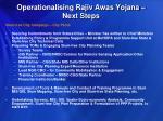 operationalising rajiv awas yojana next steps