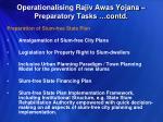 operationalising rajiv awas yojana preparatory tasks contd5