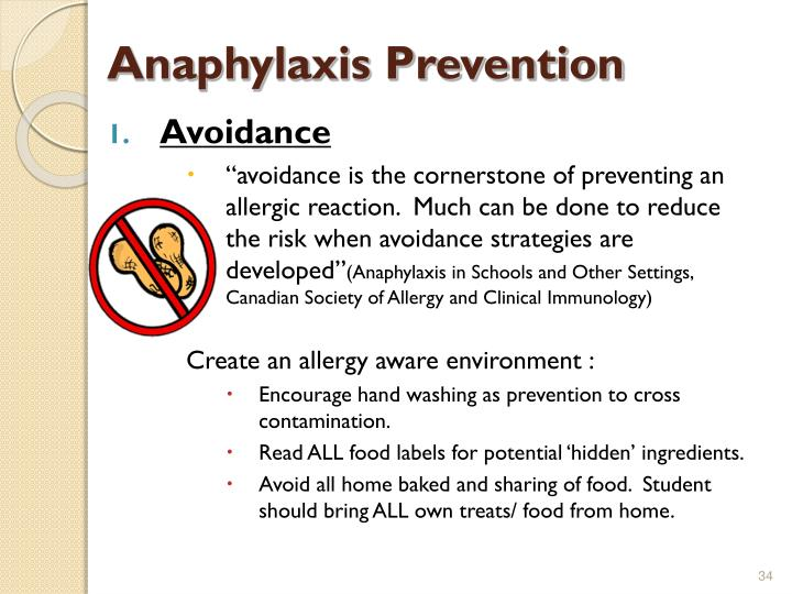 Anaphylaxis Prevention