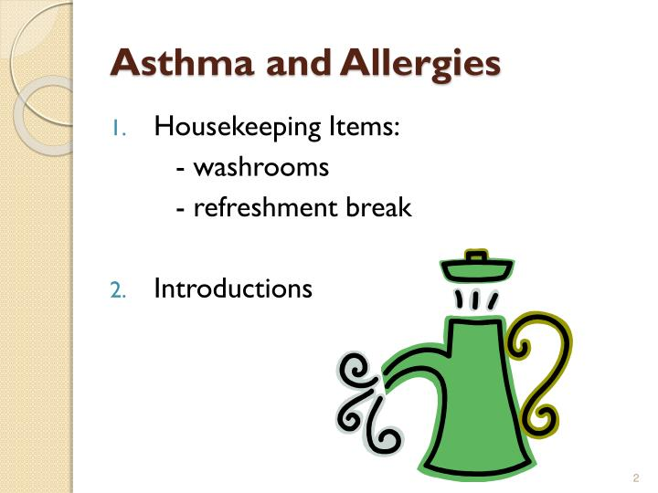 Asthma and allergies1