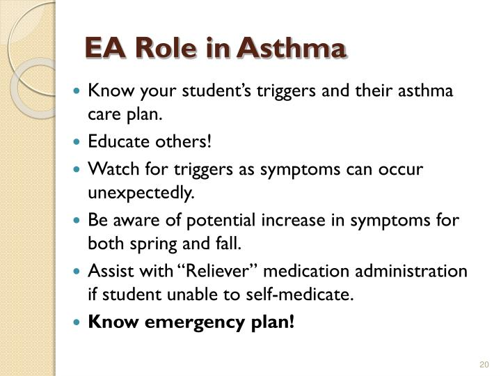 EA Role in Asthma