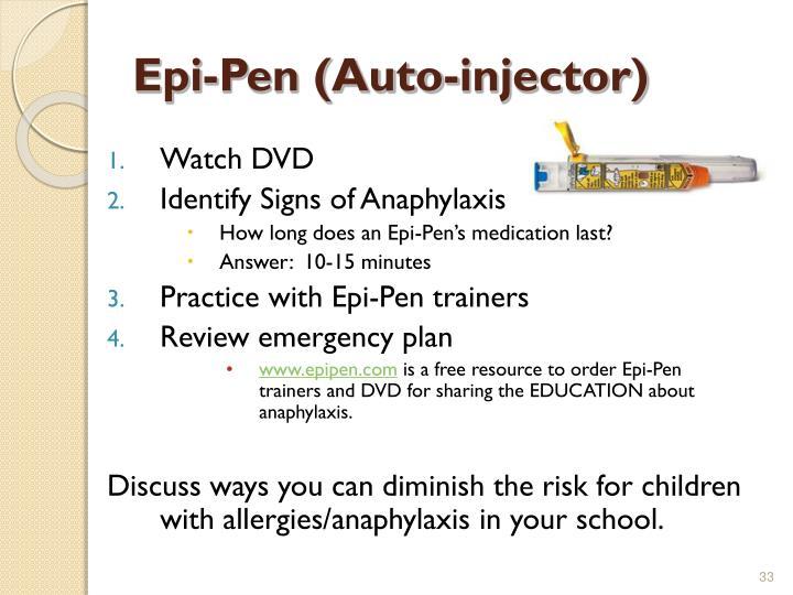 Epi-Pen (Auto-injector)