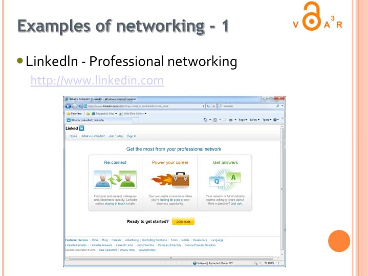 Examples of networking - 1