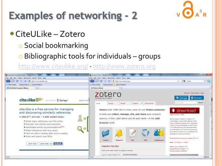 Examples of networking - 2