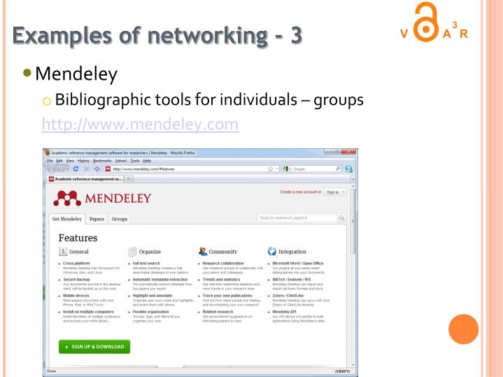 Examples of networking - 3