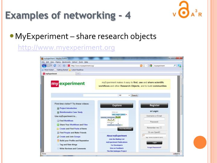 Examples of networking - 4