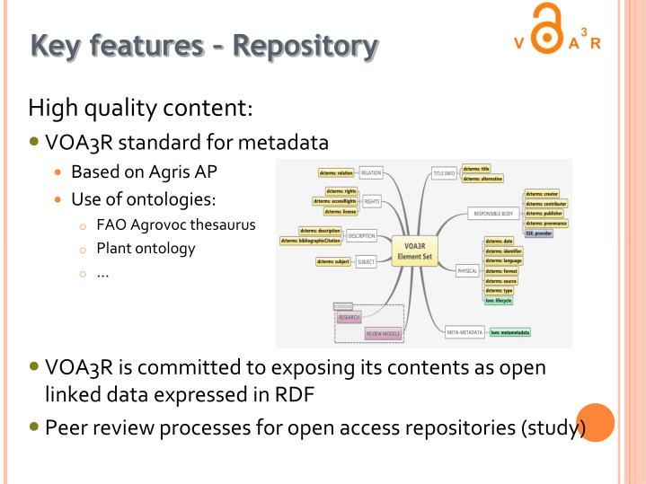 Key features – Repository