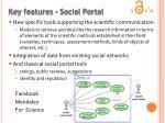 key features social portal