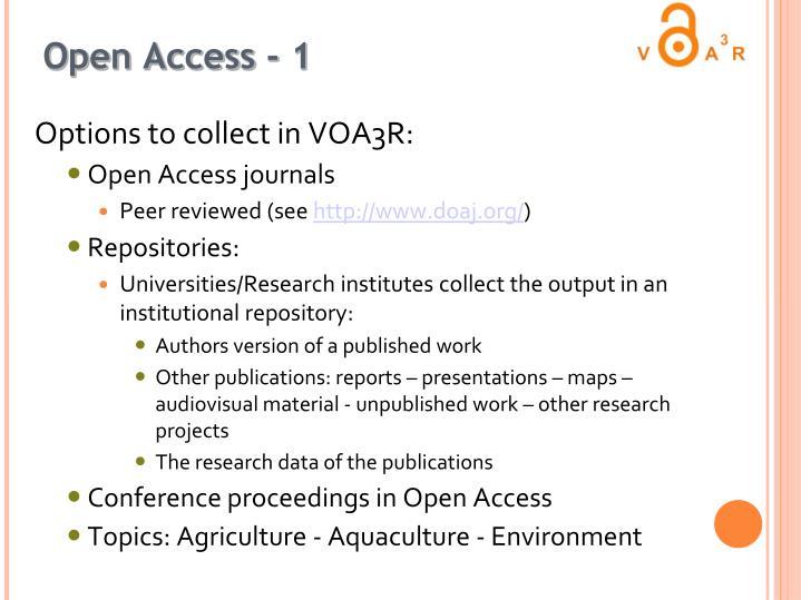 Open Access - 1