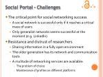 social portal challenges