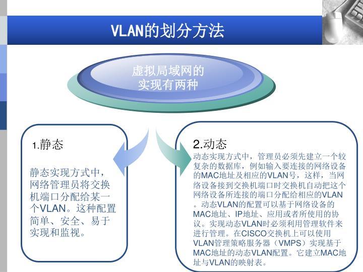 虚拟局域网的实现有两种