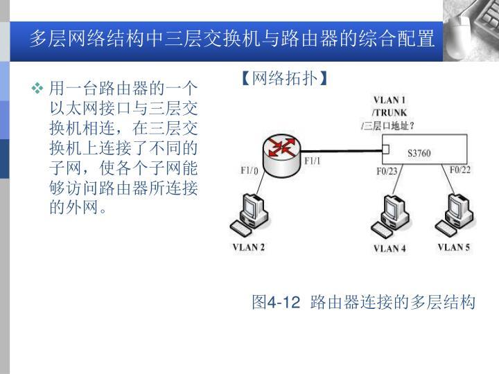 多层网络结构中三层交换机与路由器的综合配置
