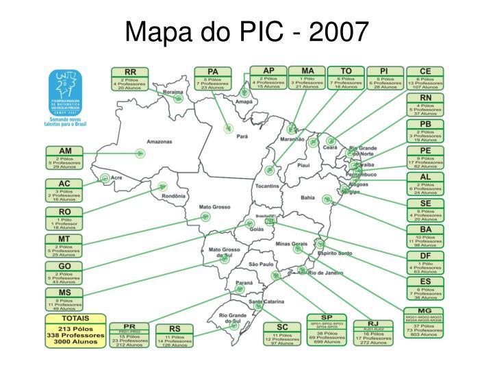 Mapa do PIC - 2007