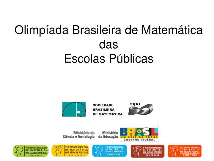 Olimpíada Brasileira de Matemática das
