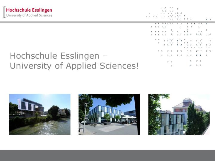 Hochschule esslingen university of applied sciences