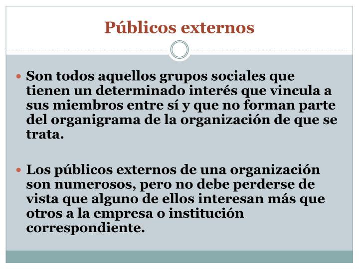 Públicos externos