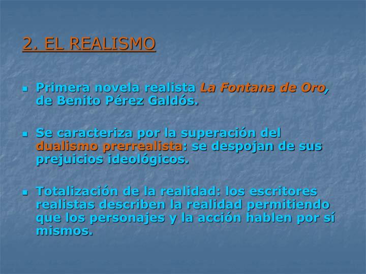 2. EL REALISMO