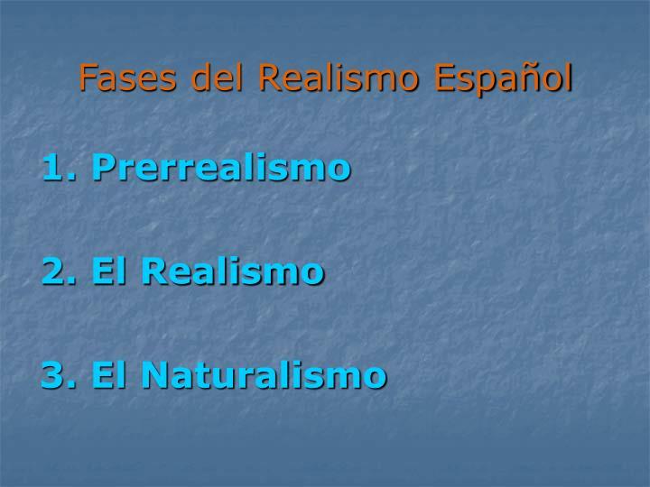 Fases del Realismo Español