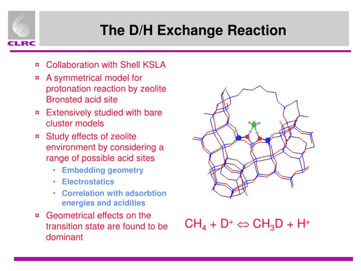 The D/H Exchange Reaction