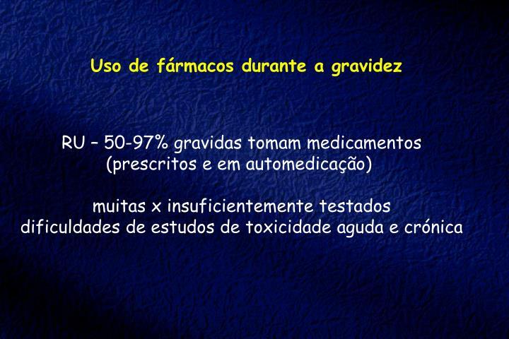 Uso de fármacos durante a gravidez