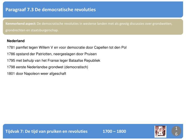 Paragraaf 7.3 De democratische revoluties
