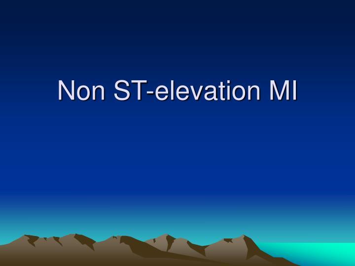 Non ST-elevation MI
