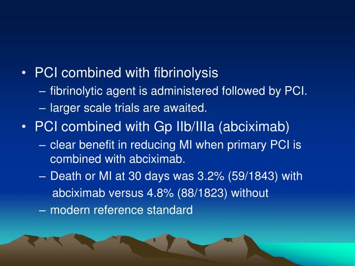 PCI combined with fibrinolysis