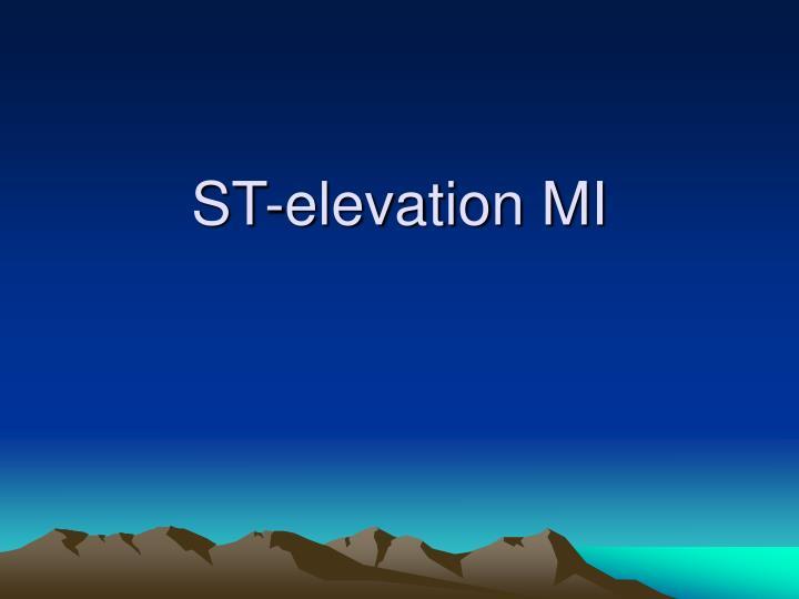 ST-elevation MI