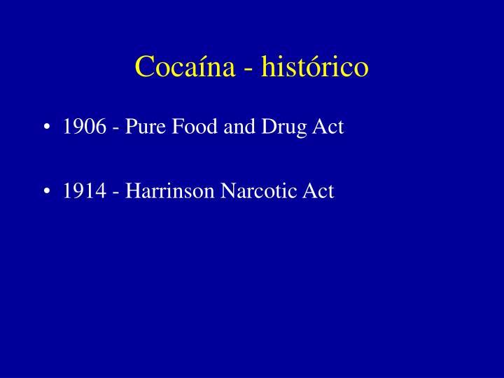 Cocaína - histórico