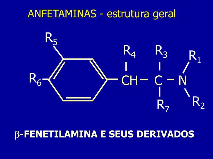 ANFETAMINAS - estrutura geral