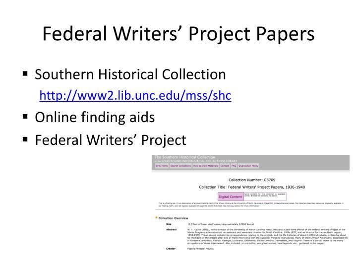 Federal Writers
