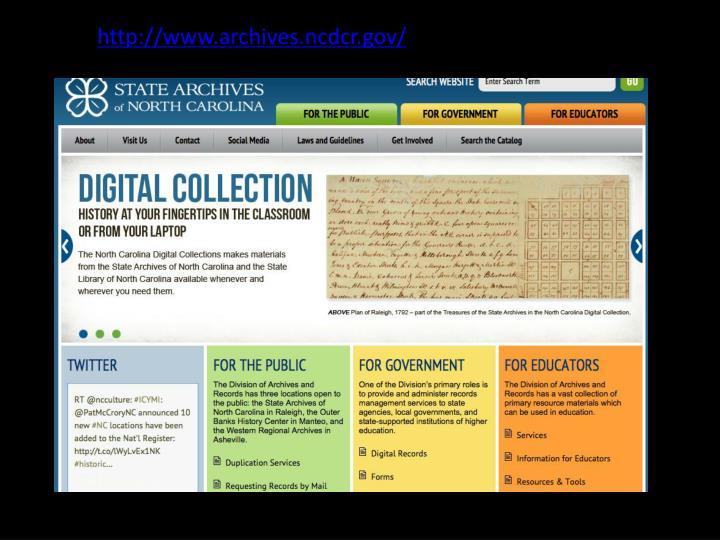 http://www.archives.ncdcr.gov/