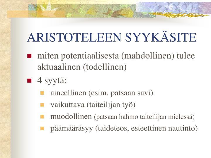 ARISTOTELEEN SYYKÄSITE