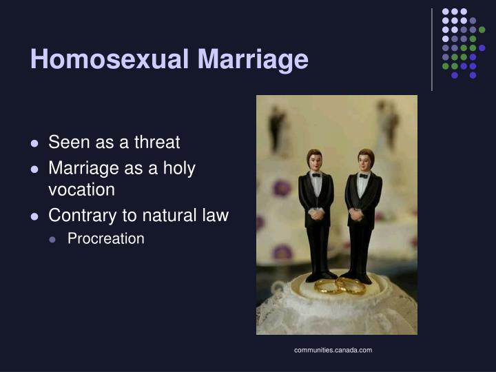 Homosexual Marriage