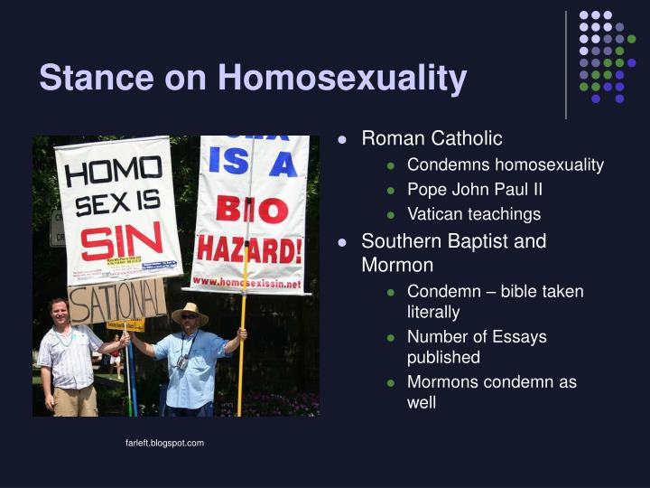 Stance on Homosexuality