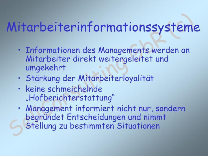Informationen des Managements werden an Mitarbeiter direkt weitergeleitet und umgekehrt