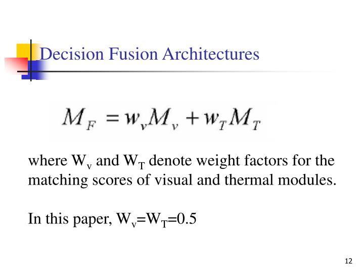 Decision Fusion Architectures